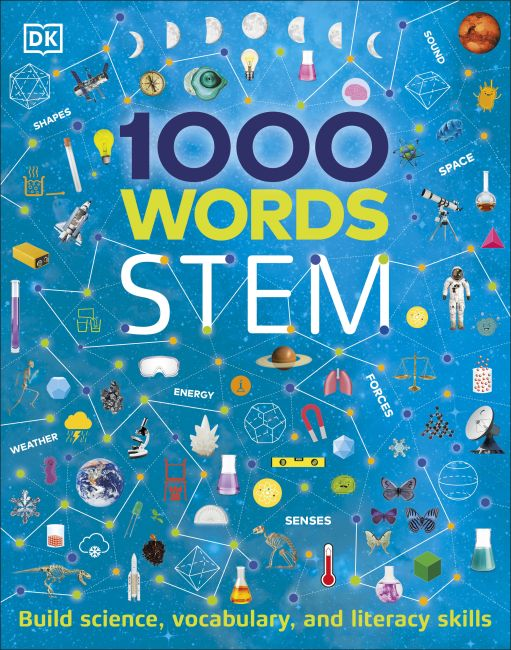 Hardback cover of 1000 Words: STEM