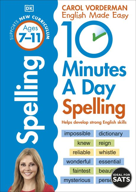 Paperback cover of 10 Minutes A Day Spelling, Ages 7-11 (Key Stage 2)