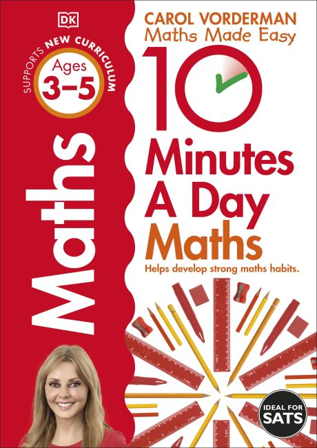Paperback cover of 10 Minutes A Day Maths, Ages 3-5 (Preschool)