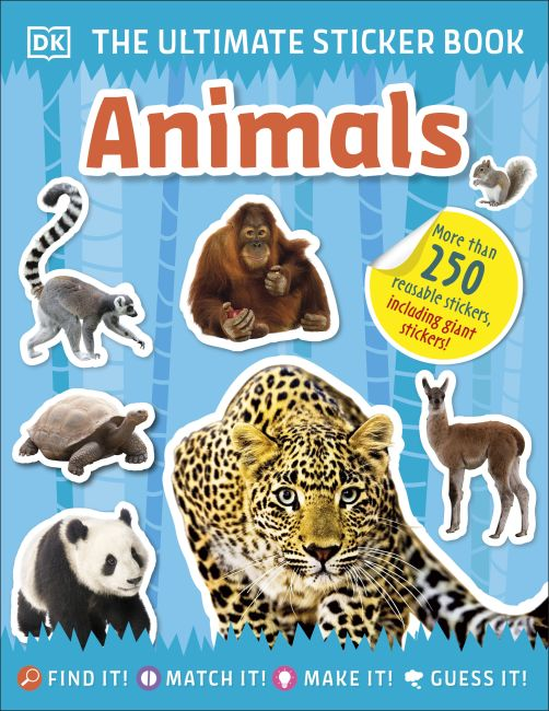 Paperback cover of Ultimate Sticker Book Animals
