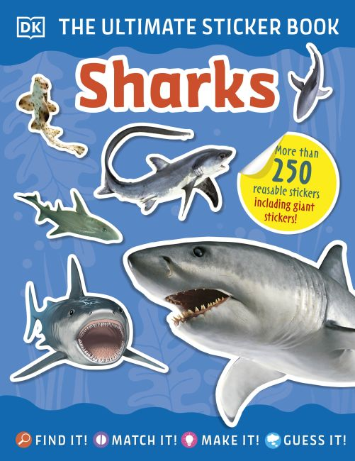 Paperback cover of Ultimate Sticker Book Sharks