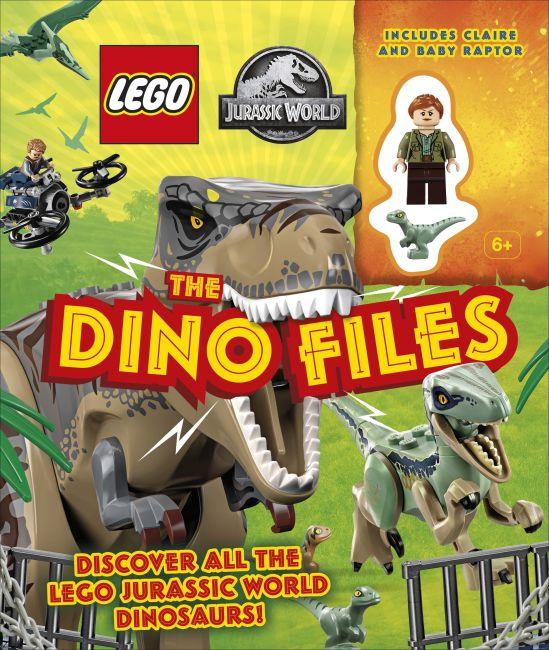 Hardback cover of LEGO Jurassic World The Dino Files