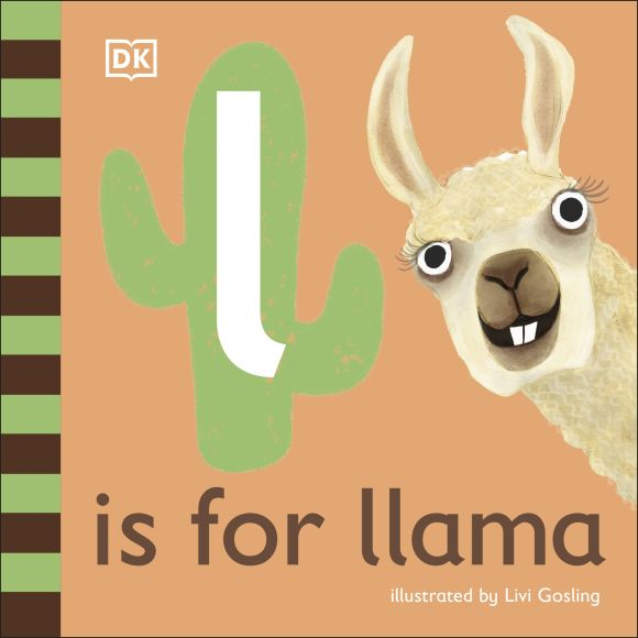 Board book cover of L is for Llama