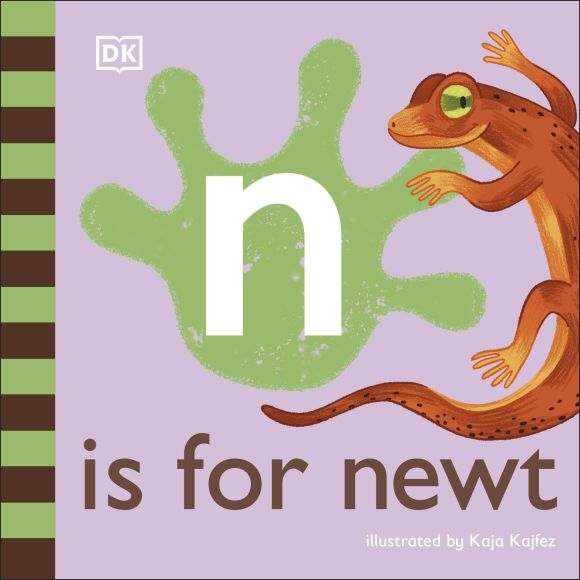 Board book cover of N is for Newt