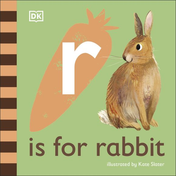 Board book cover of R is for Rabbit