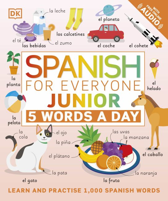 Flexibound cover of Spanish for Everyone Junior 5 Words a Day