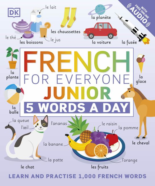 Flexibound cover of French for Everyone Junior 5 Words a Day