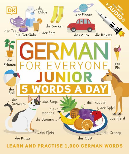 Flexibound cover of German for Everyone Junior 5 Words a Day