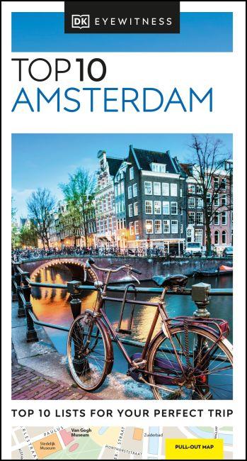 Paperback cover of DK Eyewitness Top 10 Amsterdam