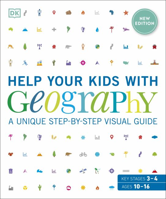Flexibound cover of Help Your Kids with Geography, Ages 10-16 (Key Stages 3 & 4)