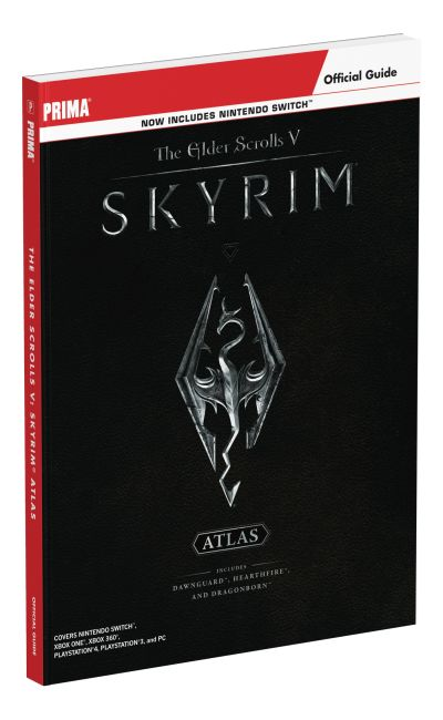Paperback cover of The Elder Scrolls V: Skyrim Atlas