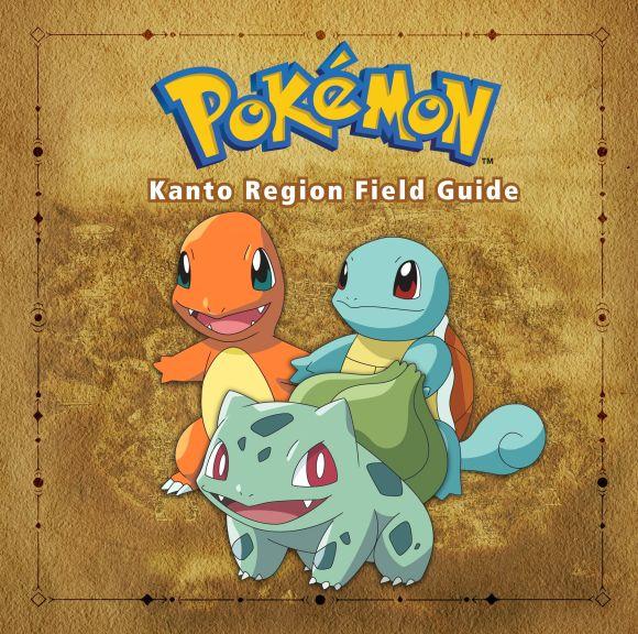 Hardback cover of Pokémon Kanto Region Field Guide