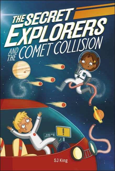 Paperback cover of The Secret Explorers and the Comet Collision