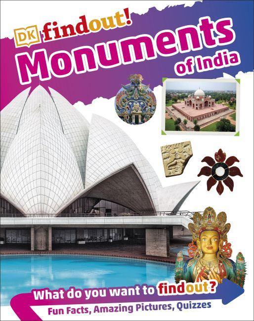 Hardback cover of DKfindout! Monuments of India
