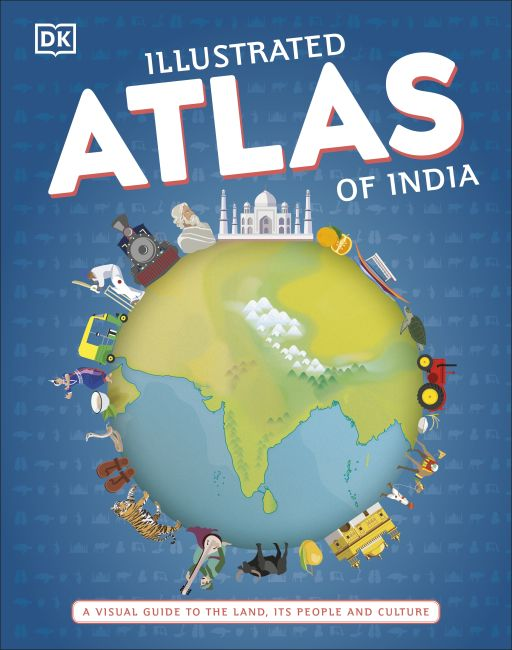 Hardback cover of Illustrated Atlas of India