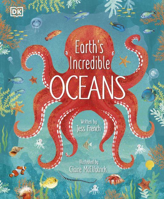 Hardback cover of Earth's Incredible Oceans