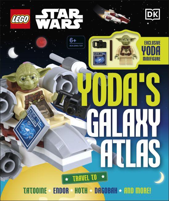 Hardback cover of LEGO Star Wars Yoda's Galaxy Atlas