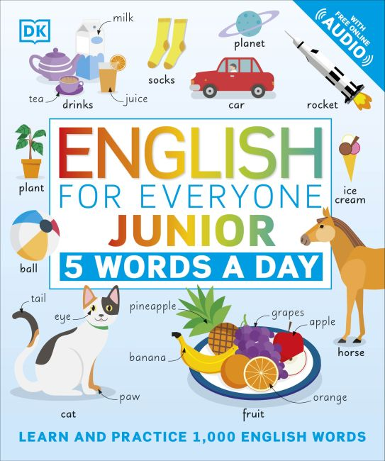 Paperback cover of English for Everyone Junior 5 Words a Day