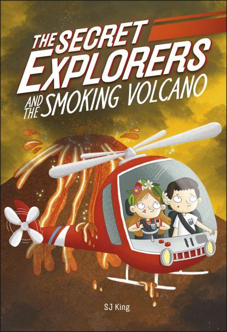 Hardback cover of The Secret Explorers and the Smoking Volcano