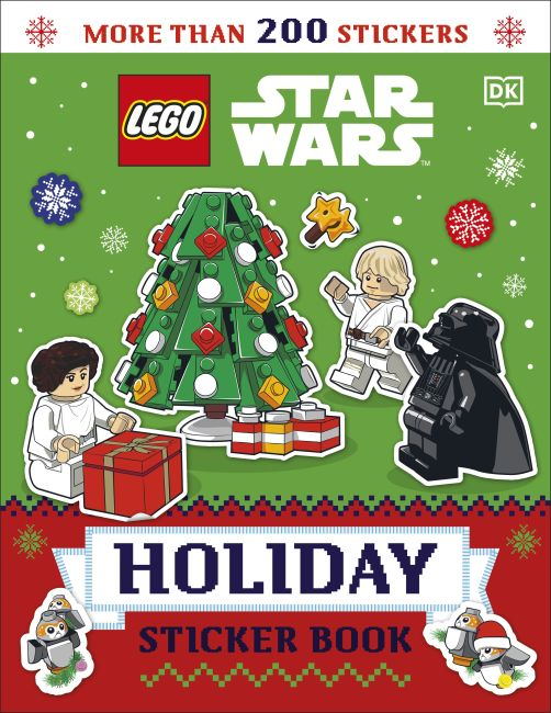 Paperback cover of LEGO Star Wars Holiday Sticker Book