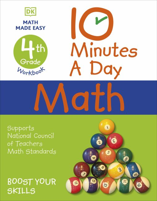 Paperback cover of 10 Minutes a Day Math, 4th Grade