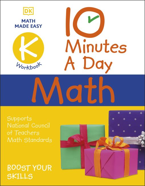 Paperback cover of 10 Minutes a Day Math Kindergarten