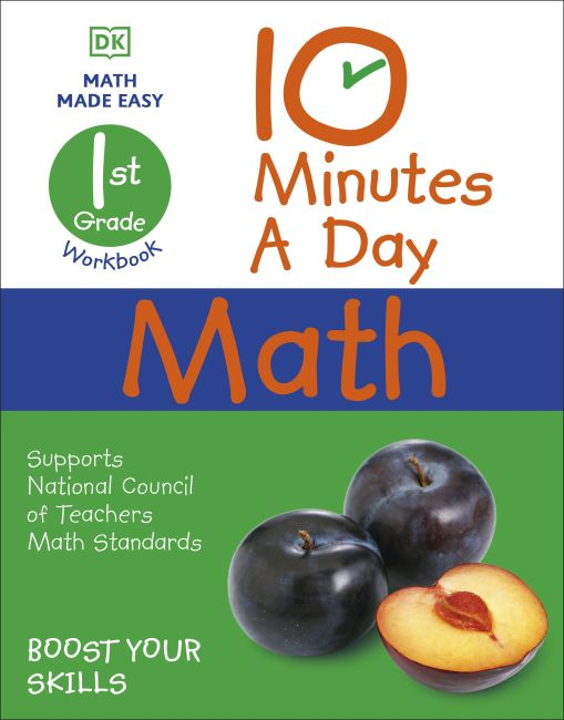 Paperback cover of 10 Minutes a Day Math, 1st Grade