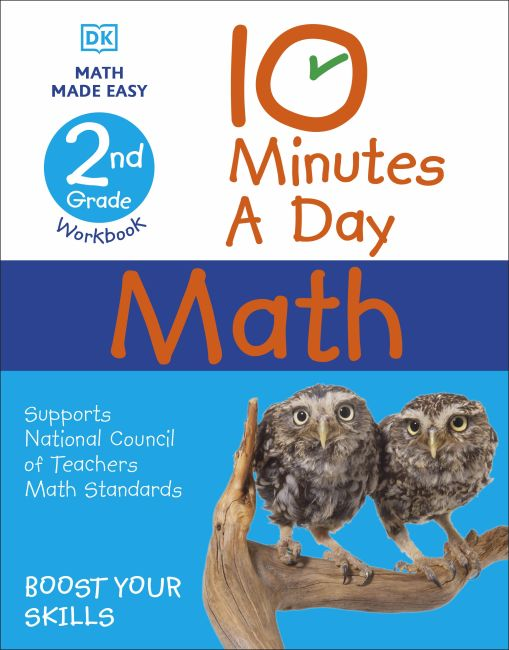Paperback cover of 10 Minutes a Day Math, 2nd Grade