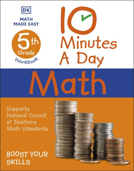 Paperback cover of 10 Minutes a Day Math, 5th Grade