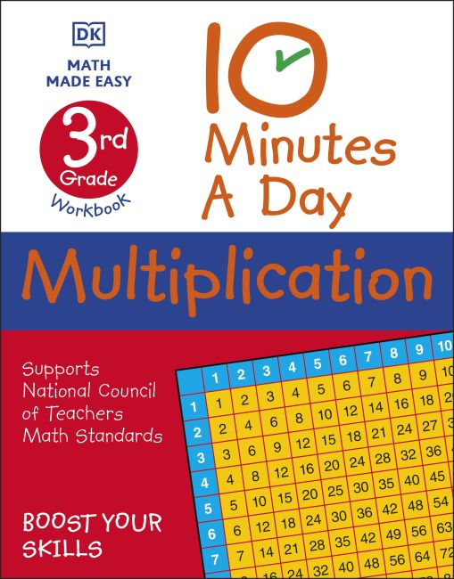 Paperback cover of 10 Minutes a Day Multiplication, 3rd Grade