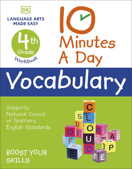 Paperback cover of 10 Minutes a Day Vocabulary, 4th Grade