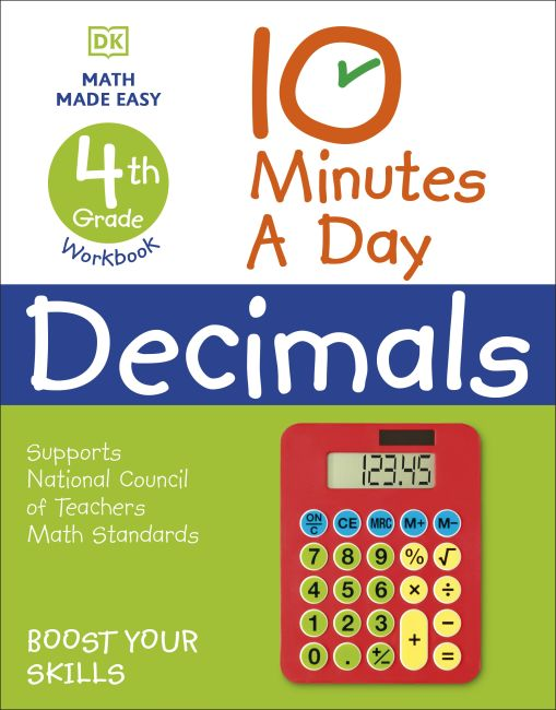 Paperback cover of 10 Minutes a Day Decimals, 4th Grade