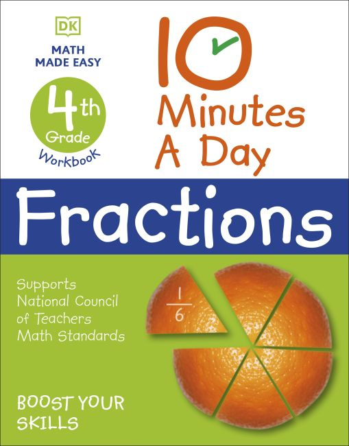 Paperback cover of 10 Minutes a Day Fractions, 4th Grade