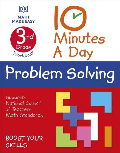 Paperback cover of 10 Minutes a Day Problem Solving, 3rd Grade