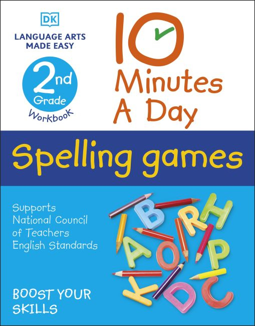 Paperback cover of 10 Minutes a Day Spelling Games, 2nd Grade