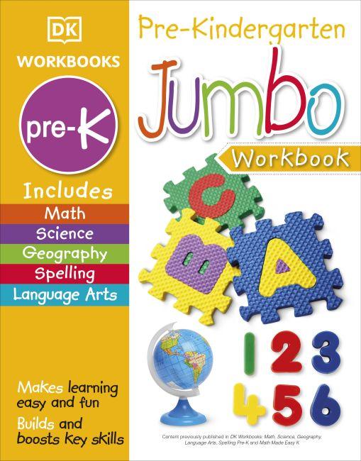 Paperback cover of Jumbo Pre Kindergarten Workbook