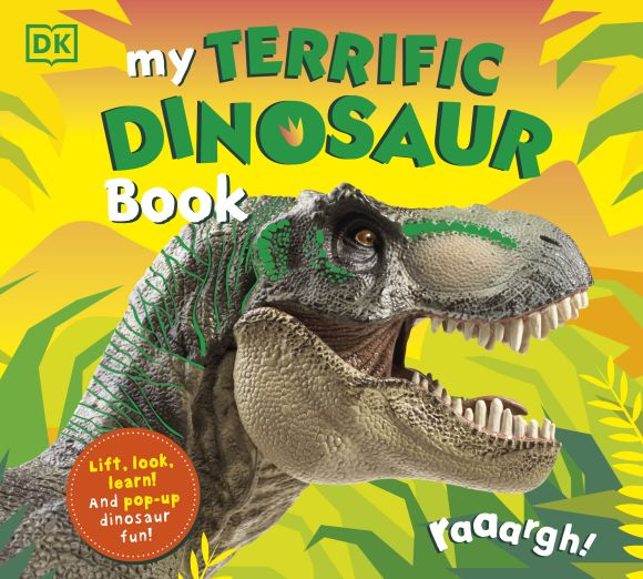 Board book cover of My Terrific Dinosaur Book