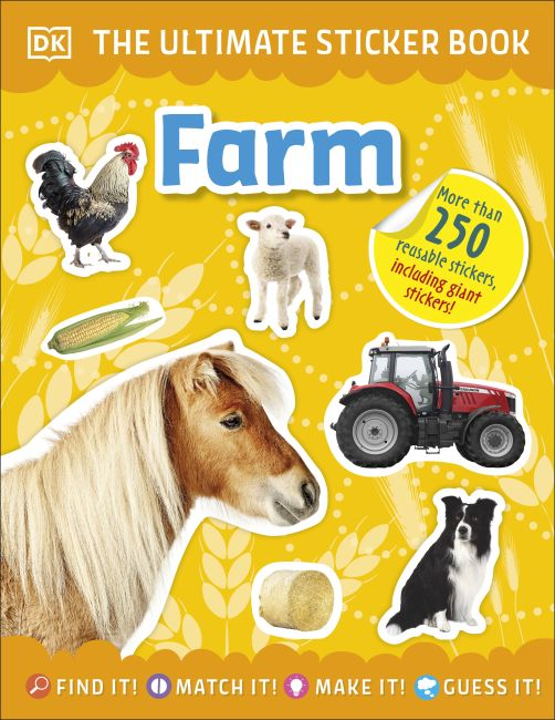 Paperback cover of Ultimate Sticker Book Farm