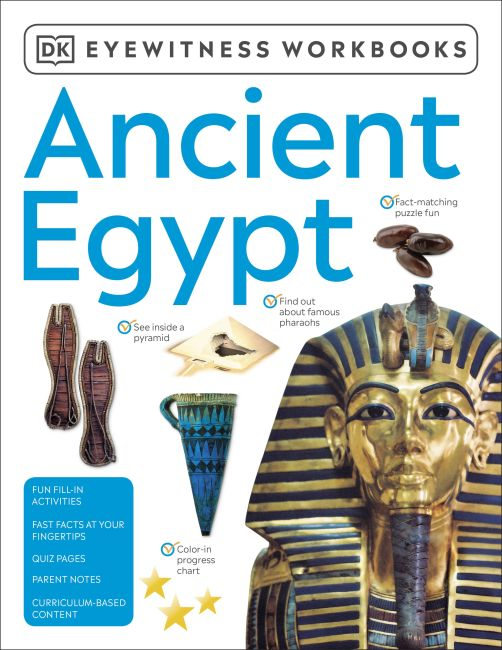 Paperback cover of Eyewitness Workbooks Ancient Egypt