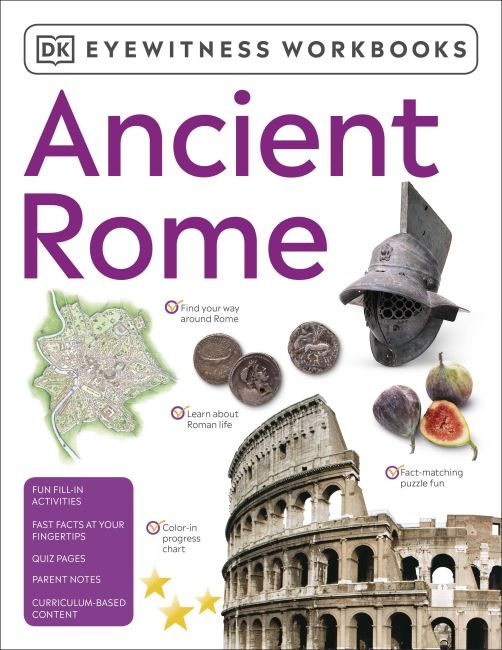 Paperback cover of Eyewitness Workbooks Ancient Rome