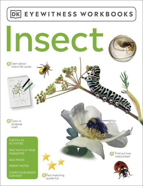 Paperback cover of Eyewitness Workbooks Insect