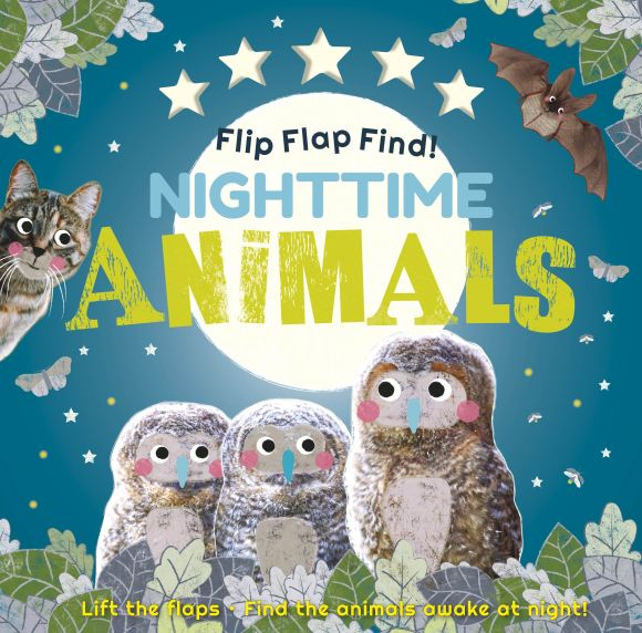 Board book cover of Flip Flap Find! Night-time Animals