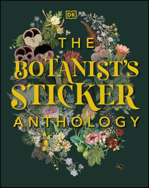 Hardback cover of The Botanist's Sticker Anthology