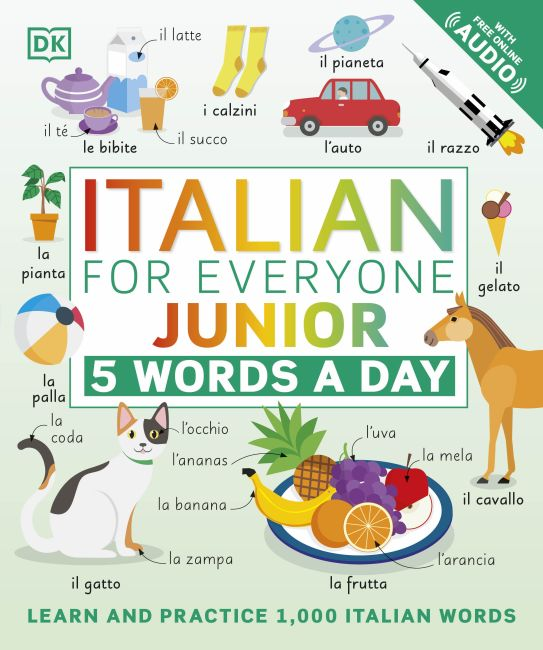 Flexibound cover of Italian for Everyone Junior 5 Words a Day
