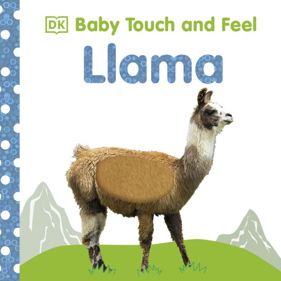 Board book cover of Baby Touch and Feel Llama