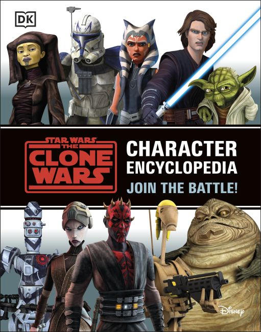 Paperback cover of Star Wars The Clone Wars Character Encyclopedia