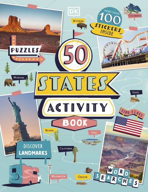 Paperback cover of 50 States Activity Book