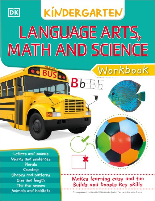 eBook cover of DK Workbooks: Language Arts Math and Science Kindergarten