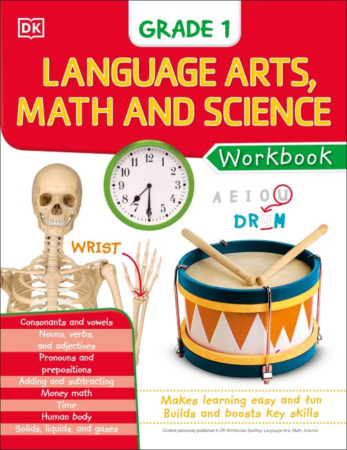 eBook cover of DK Workbooks: Language Arts Math and Science Grade 1