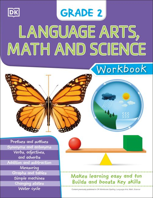 eBook cover of DK Workbooks: Language Arts Math and Science Grade 2